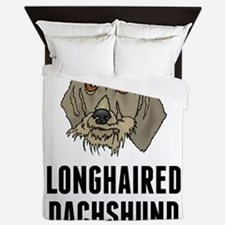 Longhaired Dachshund Queen Duvet
