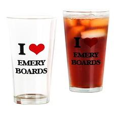 I love Emery Boards Drinking Glass