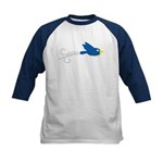 Twin B Flying Bird Kids Baseball Jersey