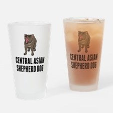 Central Asian Shepherd Dog Drinking Glass