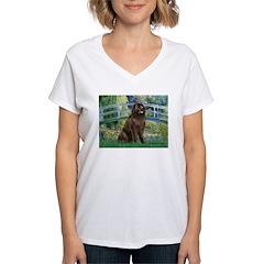 Bridge / Newfoundland Women's V-Neck T-Shirt