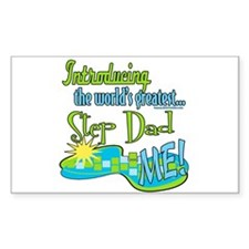Best Step-Dad Rectangle Decal