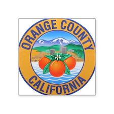 """Unique California Square Sticker 3"""" x 3"""""""