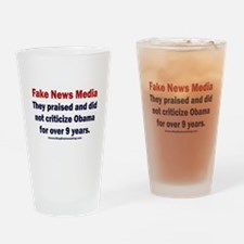 Obama's Fake News Media Drinking Glass