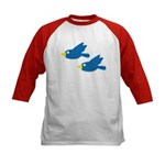 Twin Parent Birds Kids Baseball Jersey