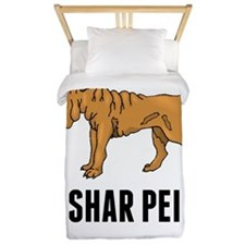Shar Pei Twin Duvet