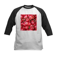 Red Cherries photography Baseball Jersey