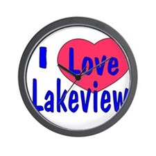 Lakeview Shirt 2 Wall Clock