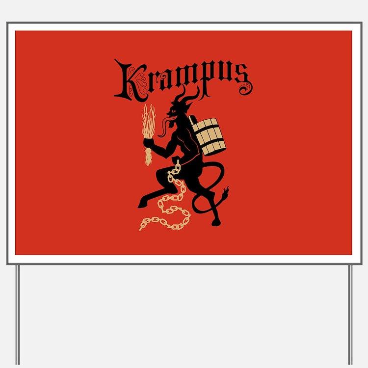 Krampus Yard Sign