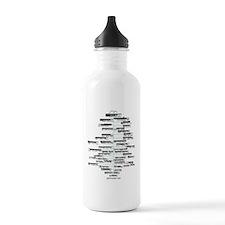 ADK high peaks christm Water Bottle