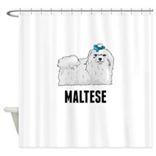 Maltese Shower Curtain