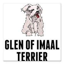 "Glen of Imaal Terrier Square Car Magnet 3"" x 3"""