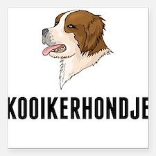 "Kooikerhondje Square Car Magnet 3"" x 3"""