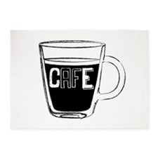 Cafe 1 5'x7'Area Rug