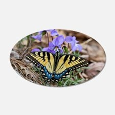 Butterfly On Violets Wall Decal