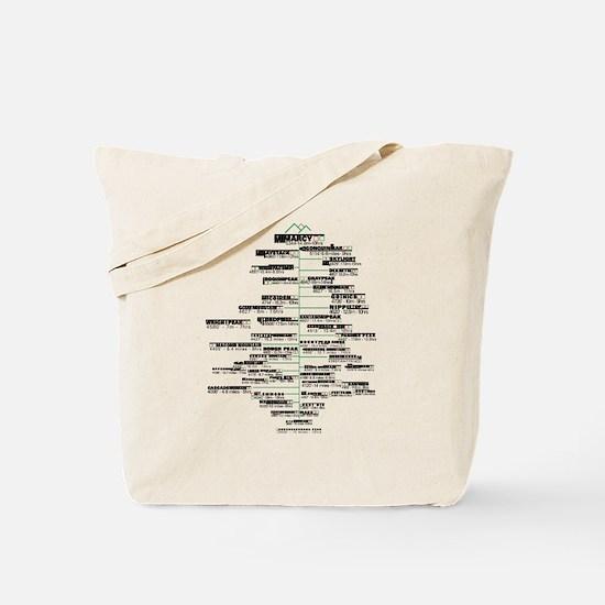 ADK High Peaks Holiday Tote Bag