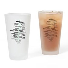 ADK High Peaks Holiday Drinking Glass