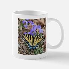Butterfly On Violets Mugs