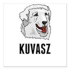 """Kuvasz Square Car Magnet 3"""" x 3"""""""