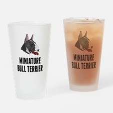 Miniature Bull Terrier Drinking Glass