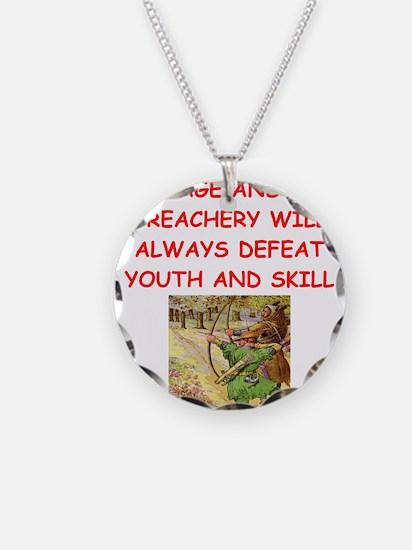 i love archery Necklace