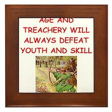 i love archery Framed Tile