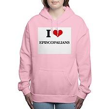 I love Episcopalians Women's Hooded Sweatshirt