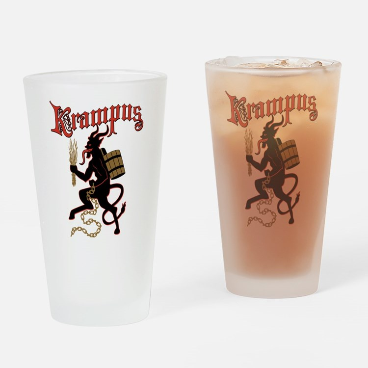 Krampus Drinking Glass