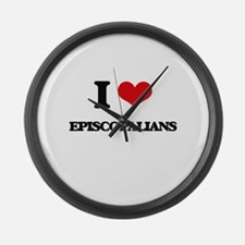 I love Episcopalians Large Wall Clock