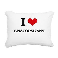 I love Episcopalians Rectangular Canvas Pillow
