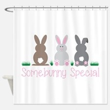 Somebunny Special Shower Curtain