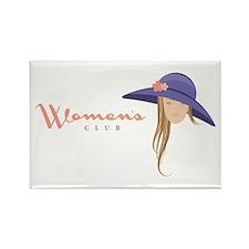 Elegant Hat Lady Woman Magnets