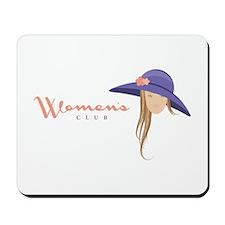 Elegant Hat Lady Woman Mousepad