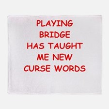 i love bridge Throw Blanket