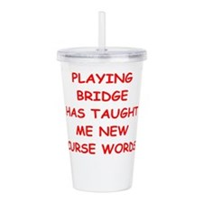 i love bridge Acrylic Double-wall Tumbler