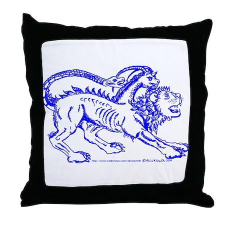 Blue Chimera of Arezzo Throw Pillow