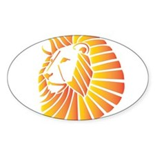 Lion Sunset Decal