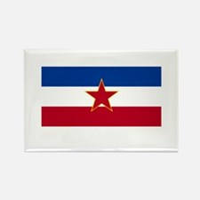 Yugoslavian Flag Rectangle Magnet
