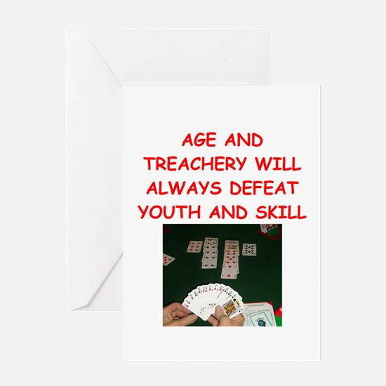 i love bridge Greeting Cards