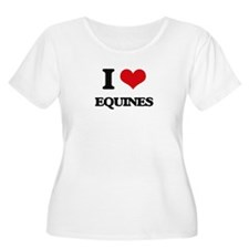 I love Equines Plus Size T-Shirt