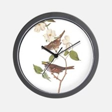 Audubon White Throated Sparrow Original Wall Clock