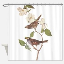 Audubon White Throated Sparrow Original Shower Cur
