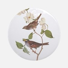 Audubon White Throated Sparrow Original Ornament (