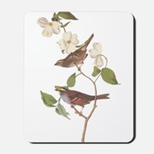 Audubon White Throated Sparrow Original Mousepad