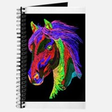 Neon Rainbow Pony Journal