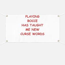 Unique Bocce Banner