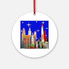 Philadelphia Starry Night Ornament (Round)