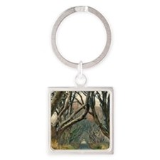 Funny Game thrones Square Keychain