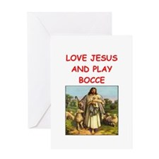 i love bocce Greeting Cards