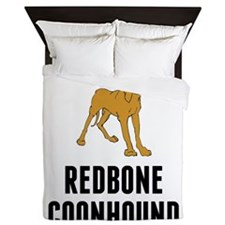 Redbone Coonhound Queen Duvet